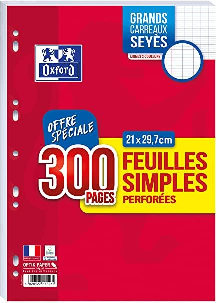 Feuille simple perforees