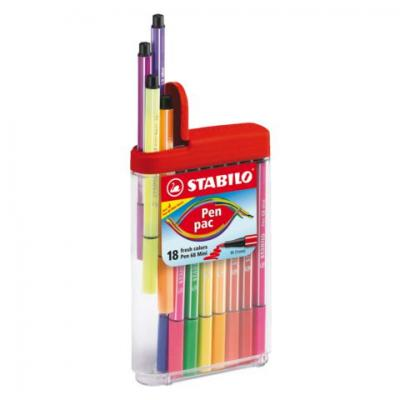 Etui de 18 mini feutre pen multicolore