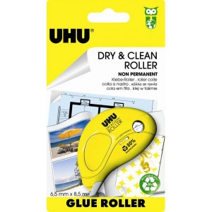 Roller de colle jetable permanent 85mx65mm dry clean uhu